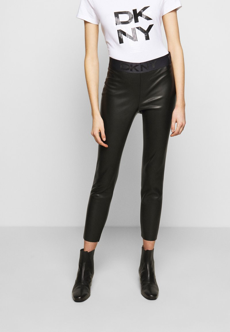 DKNY - PULL ON  - Leggings - Trousers - black