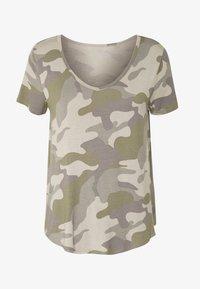Hollister Co. - OVERSIZED TEE - T-shirt z nadrukiem - khaki - 3