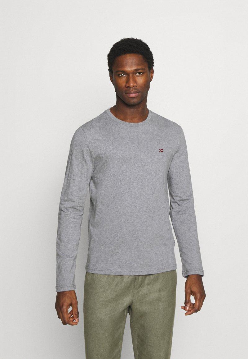 Napapijri - SALIS  - Langærmede T-shirts - motlled grey