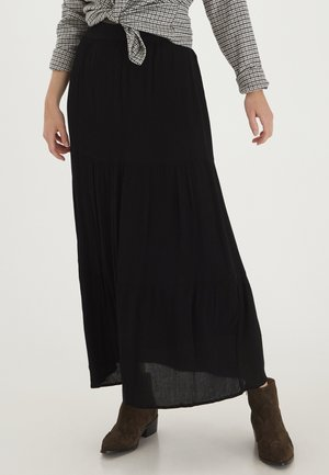 FRLASOFTY - Maxi skirt - black