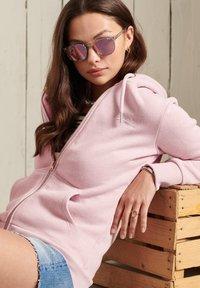 Superdry - ORANGE LABEL - Zip-up sweatshirt - soft pink marl - 2