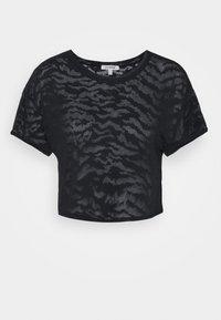 Good American - ZEBRA BURNOUT TEE - Print T-shirt - black - 5