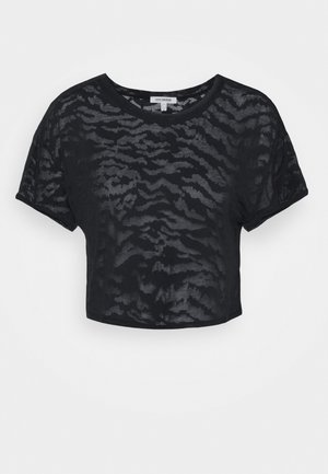 ZEBRA BURNOUT TEE - Print T-shirt - black