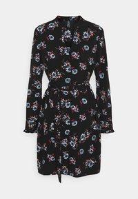Pieces - PCLUNILLA DRESS  - Košilové šaty - black - 0