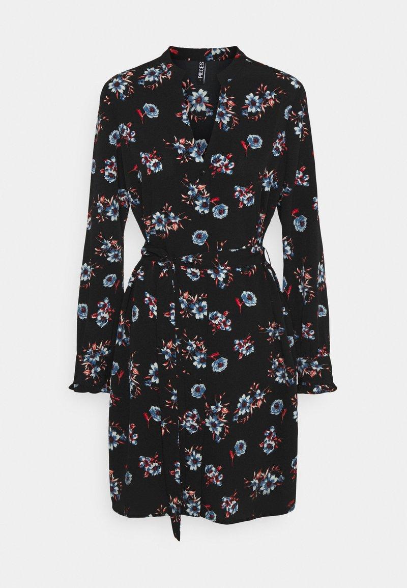 Pieces - PCLUNILLA DRESS  - Košilové šaty - black