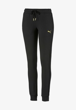 PUMA FLEECE WOMEN'S TRACK PANTS FEMMES - Tracksuit bottoms -  black