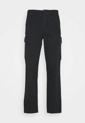 TAPER - Cargo trousers - jet black