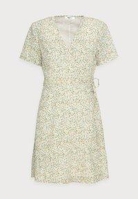 Moss Copenhagen - EVETTE WRAP DRESS - Day dress - ecru flower - 4