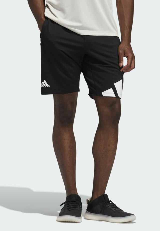 3 BAR SHORT - Sports shorts - black