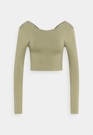 LIFESTYLE SEAMLESS OPEN BACK LONG SLEEVE  - Langarmshirt - oregano