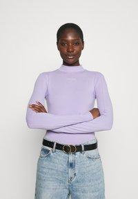 Calvin Klein Jeans - MICRO BRANDING - Long sleeved top - palma lilac - 2