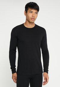 Icebreaker - MENS CREWE - Sports shirt - black - 0