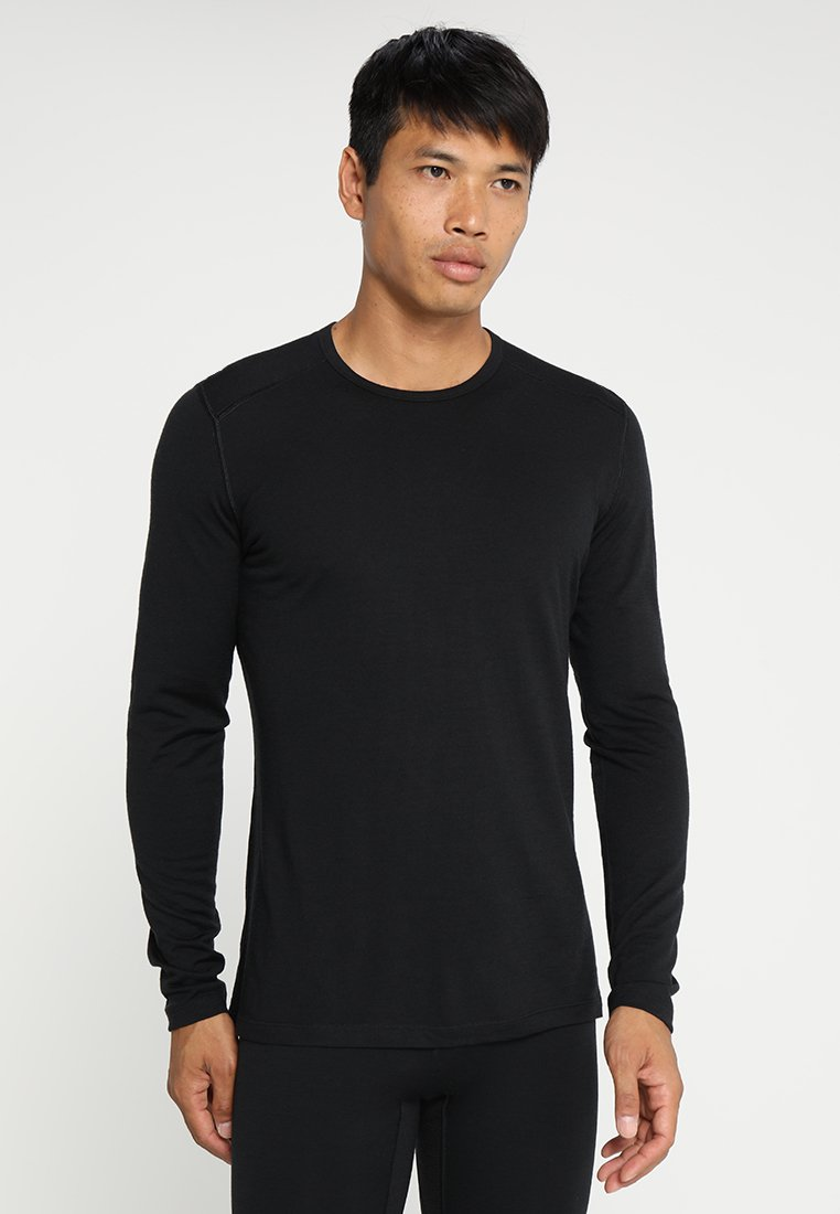 Icebreaker - MENS CREWE - Sports shirt - black