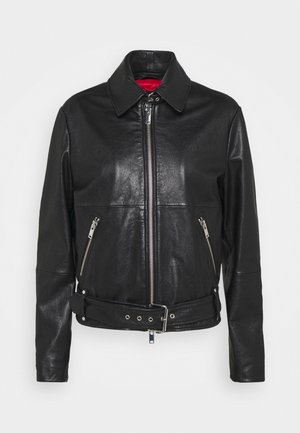 AXE - Leather jacket - schwarz