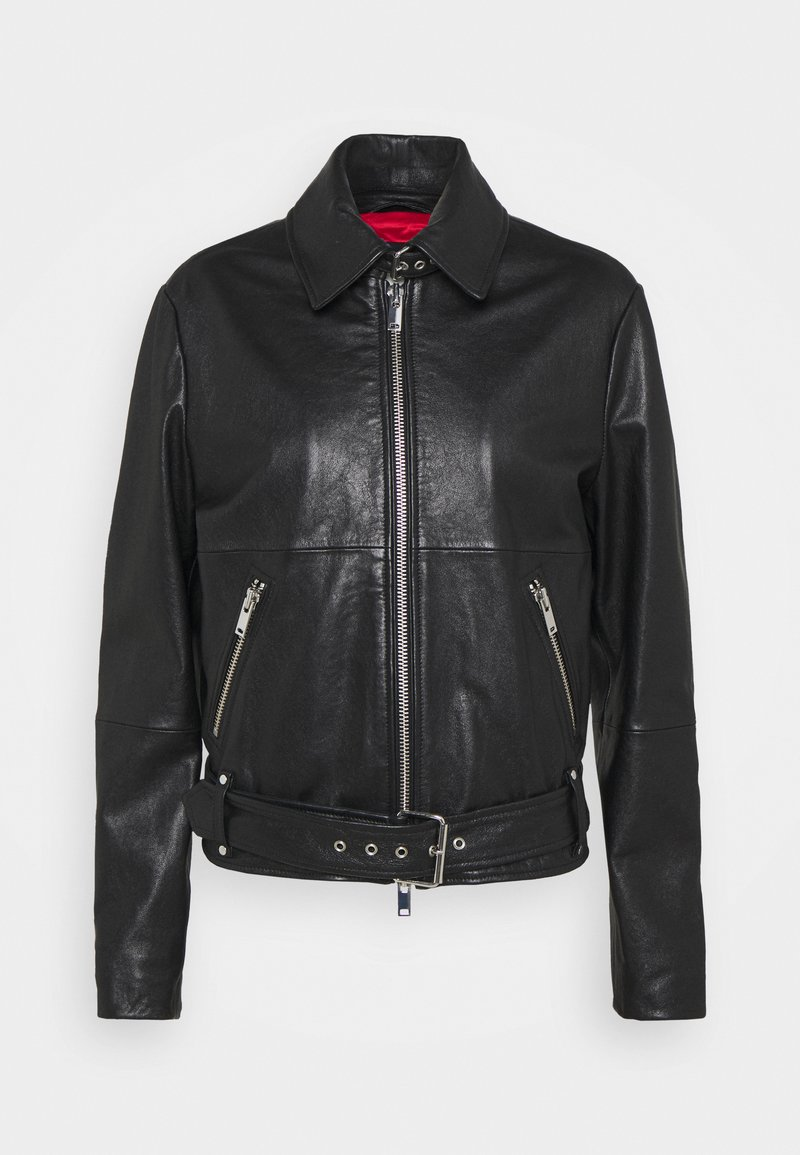 WEEKEND MaxMara - AXE - Leather jacket - schwarz