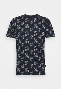 JPRHOLIDAY TEE CREW NECK - T-shirt print - black iris