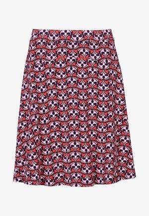 A-line skirt - kirschrot, blumenmuster