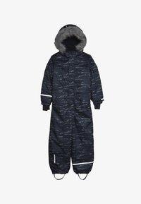 Minymo - SNOWSUIT HERRINGBONE - Mono para la nieve - ombre blue - 5