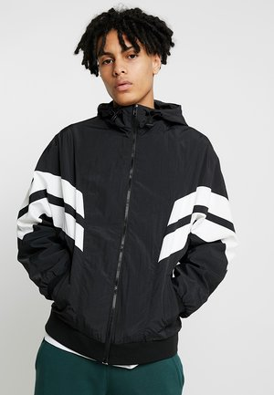 CRINKLE PANEL TRACK JACKET - Lehká bunda - black/white