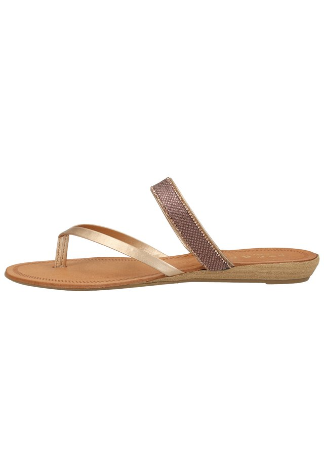 ZEHENSTEG - T-bar sandals - rame/magnolia 490