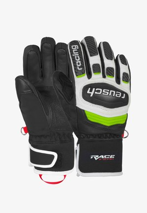 Gloves - black / white / neon green