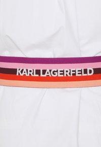 KARL LAGERFELD - STRIPE SHIRT DRESS - Shirt dress - white - 7