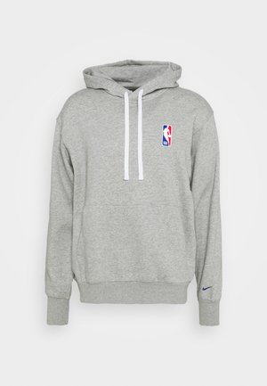 NBA LOGO HOODIE - Luvtröja - dark grey heather/rush blue