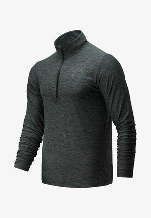 CORE SPACE DYE QUARTER ZIP - Fleece jumper - black/grey