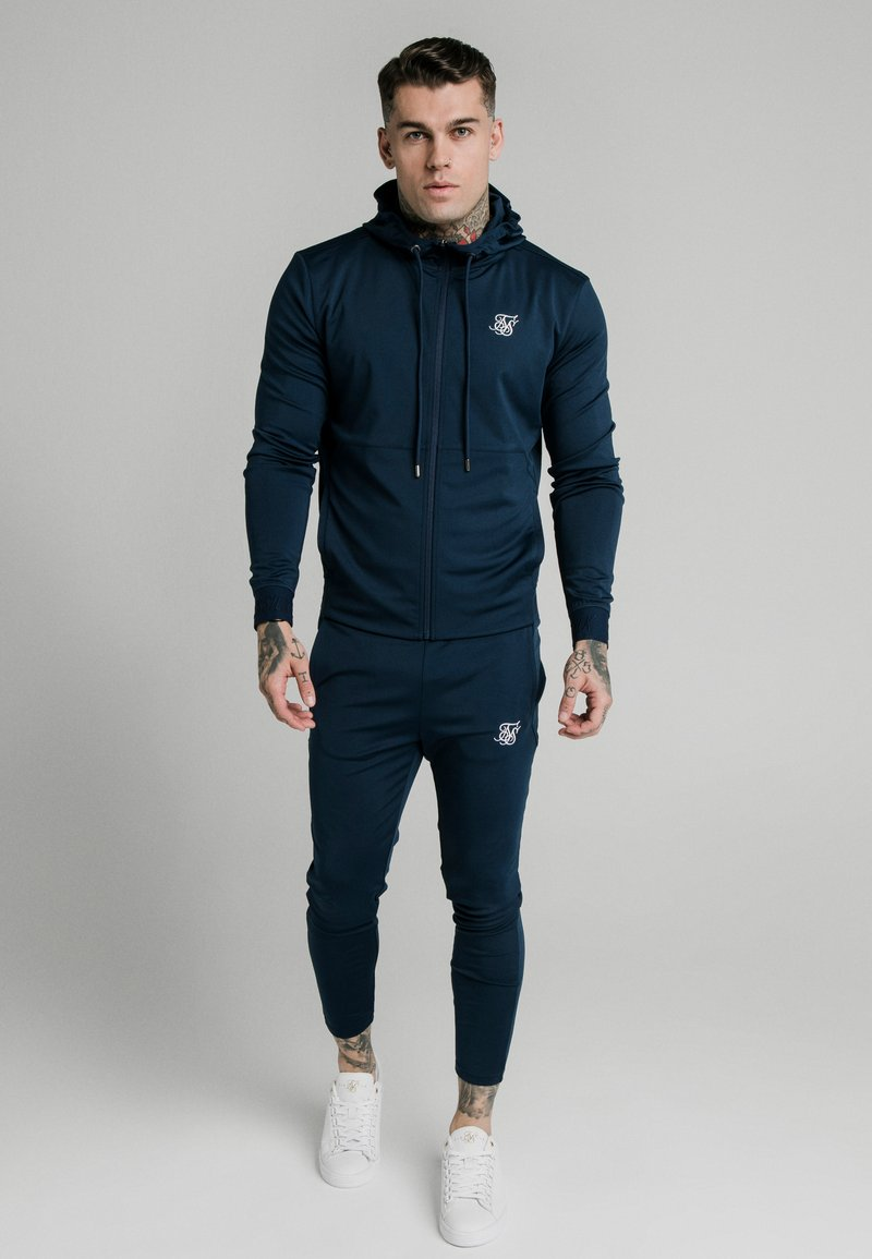 SIKSILK - AGILITY ZIP THROUGH HOODIE - Training jacket - navy
