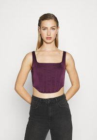 Missguided - CORSET - Bluser - burgundy - 0