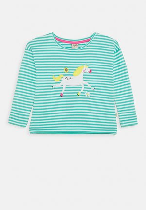 TORI APPLIQUE - Long sleeved top - pacific aqua