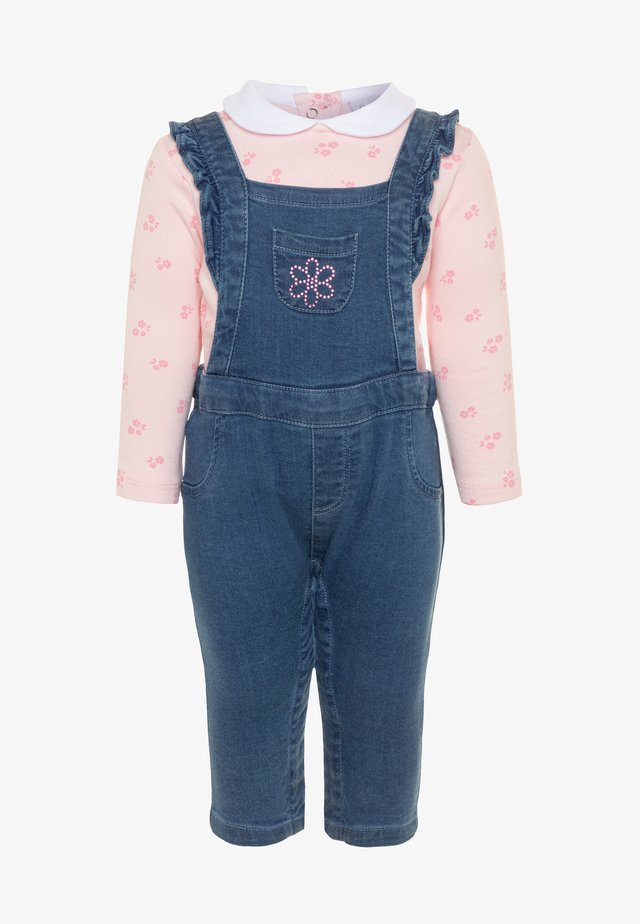SALOPETTE SET - Salopette - faded denim