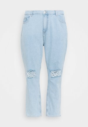 NMCARA DONNA DESTROY - Straight leg jeans - light blue denim