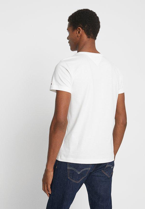 Tommy Hilfiger LOGO TEE - T-shirt z nadrukiem - white/biały Odzież Męska BFGW
