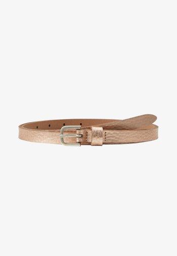 Belt - rosegold metallic