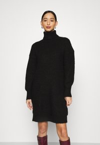 Even&Odd - Strikket kjole - black - 0