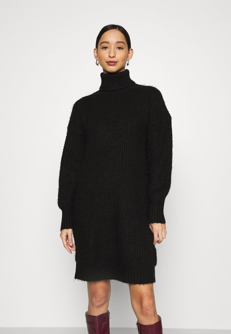 Even&Odd - Strikket kjole - black