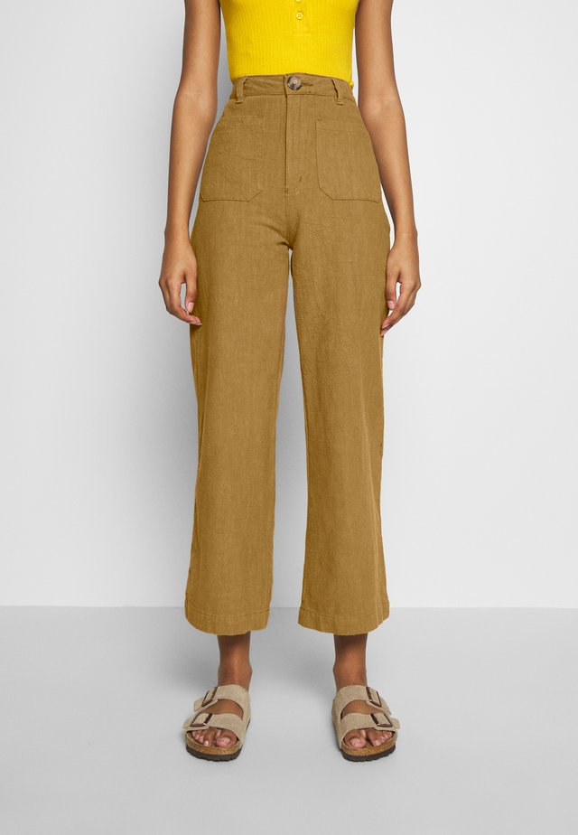 SAILOR PANT - Trousers - tobacco