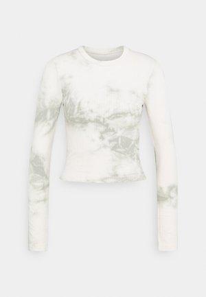 LONG SLEEVE SECOND SKIN - Langærmede T-shirts - offwhite/green
