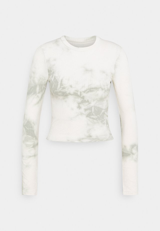 LONG SLEEVE SECOND SKIN - Long sleeved top - offwhite/green