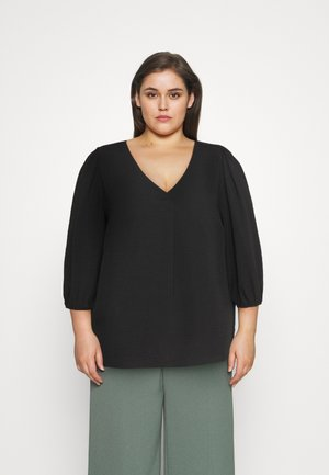 CARJACKIE V NECK BLOUSE - Blouse - black