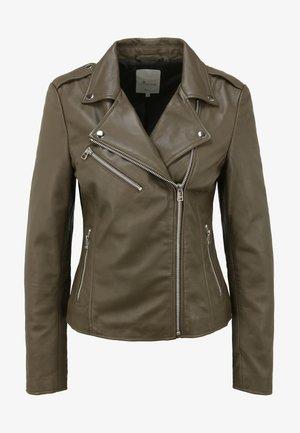JULIA  - Leather jacket - olive