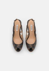Guess - GINNIA - Platform heels - brown - 5