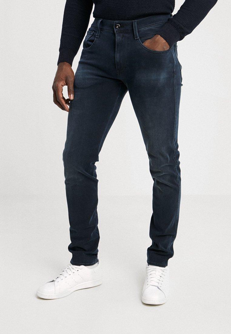 Replay - HYPERFLEX + ANBASS - Slim fit jeans - blue/black denim