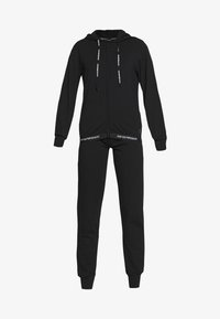 Emporio Armani - JACKET AND PANTS WITH CUFFS SET - Pyjama set - nero - 4