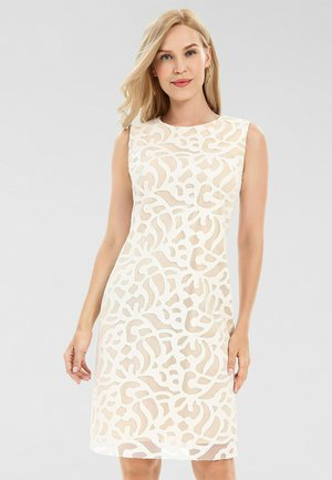 Robe fourreau - creme-nude
