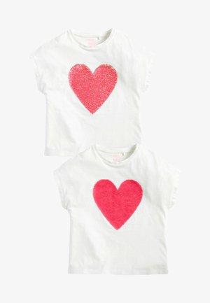2 PACK - Camiseta estampada - white