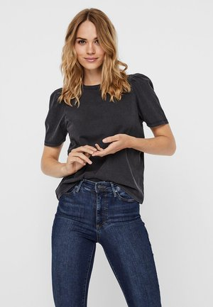 NMSHOUT - T-shirt basic - black