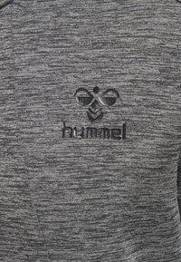 Hummel - ASTON - Zip-up sweatshirt - dark grey melange - 3