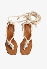 Mango - CORD - T-bar sandals - ecru - 1